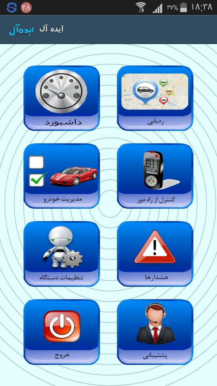 جی پی اس های متنوع مسیریابی ماشین تصویر چهل و شش